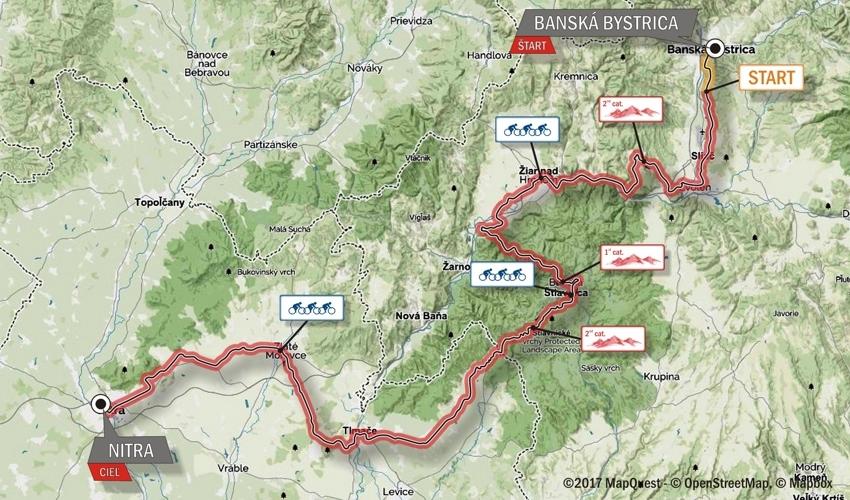 Giro di Slovacchia 2017 Tappa 2 BANSKÁ BYSTRICA planimetria